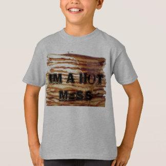 im una camiseta caliente de la crepe del lío