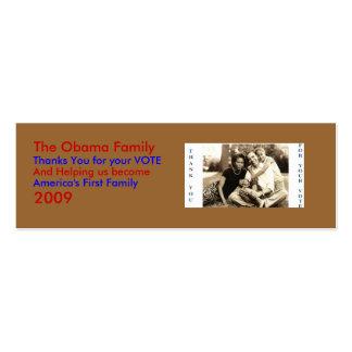image0-6, la familia de Obama, gracias… - Tarjetas De Visita Mini