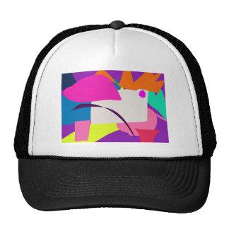 Imagen abstracta colorida gorros bordados