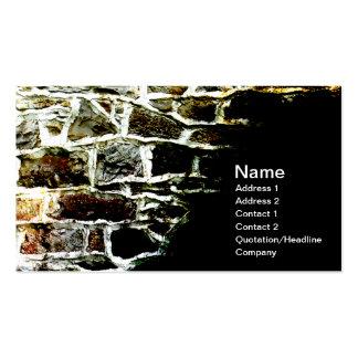 imagen abstracta de una pared de piedra y de un mo plantilla de tarjeta de visita