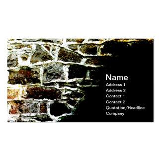 imagen abstracta de una pared de piedra y de un tarjetas de visita