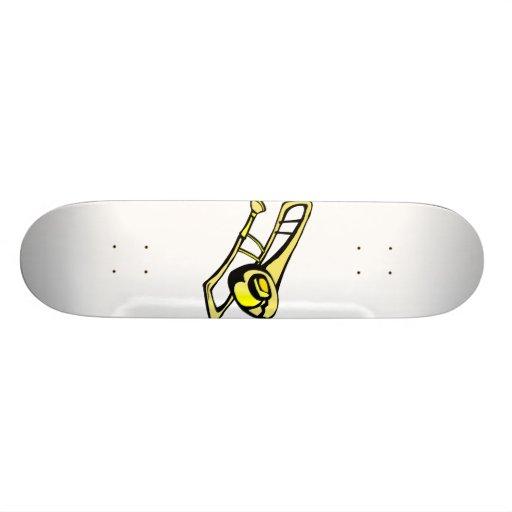 imagen amarilla estilizada del gráfico del trombon patin personalizado