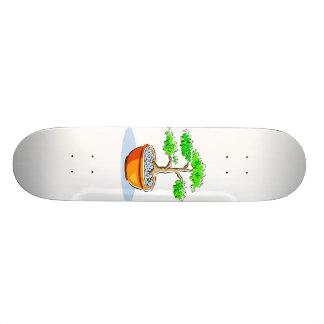 Imagen anaranjada del gráfico del cuenco de los bo patin personalizado