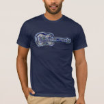 imagen apenada azul de la guitarra camiseta