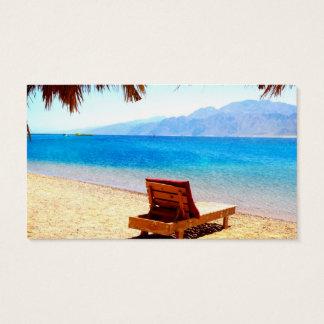 imagen arenosa del agua azul de la naturaleza de tarjeta de visita