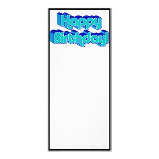 Imagen azul retra maravillosa del texto del feliz  lona publicitaria