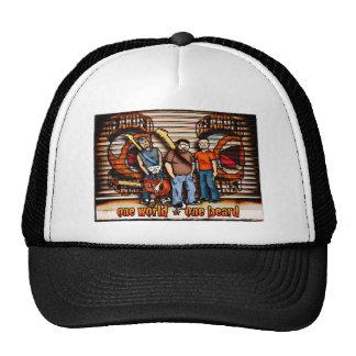 Imagen barbuda de la banda del planeta gorras de camionero