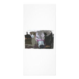 Imagen blanca de la cabeza de la vaca cartoonized lonas