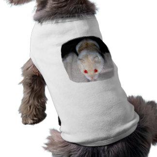 Imagen blanca y rubia del hámster del albino camiseta sin mangas para perro