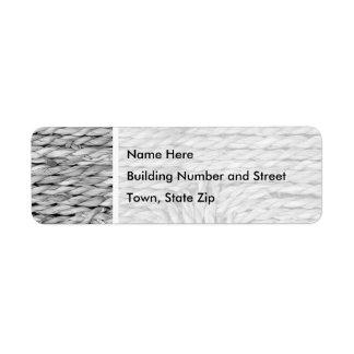 Imagen blanco y negro tejida rústica del modelo etiquetas de remite
