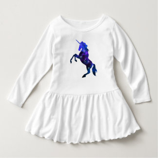 Imagen brillante del unicornio hermoso azul de la vestido