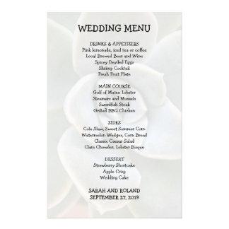 Imagen casual del Succulent del menú del boda