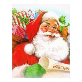 Imagen clásica de Santa Flyer Personalizado