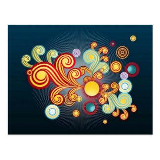 Imagen de Abstrt con las burbujas Tarjeta Postal