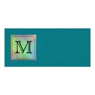 Imagen de encargo impresa del monograma en modelo diseño de tarjeta publicitaria
