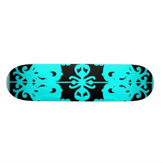 Imagen de espejo negra y azul monopatín personalizado
