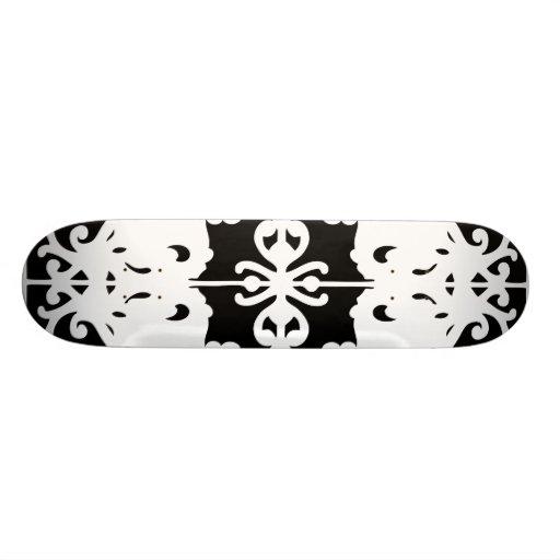 Imagen de espejo negra y blanca patín personalizado