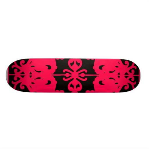 Imagen de espejo negra y roja patinetas personalizadas