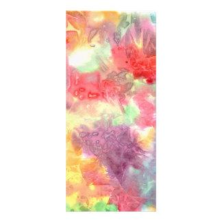 Imagen de fondo colorida en colores pastel del wat diseño de tarjeta publicitaria