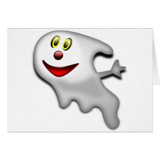 Imagen de Halloween del fantasma Tarjeta De Felicitación