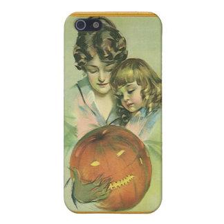 Imagen de Halloween del vintage con Jack O'Lantern iPhone 5 Carcasas