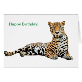 Imagen de Jaguar para la tarjeta de felicitación