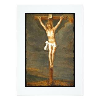 Imagen de la crucifixión del vintage invitación 13,9 x 19,0 cm