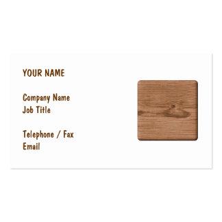 Imagen de la madera de Brown Tarjetas Personales