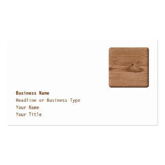 Imagen de la madera de Brown Tarjetas De Visita