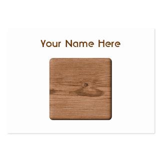Imagen de la madera de Brown Tarjetas De Visita Grandes