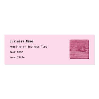 Imagen de la madera rosada tarjetas de visita