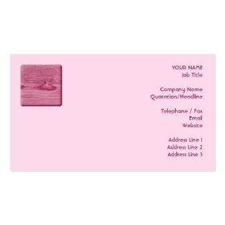 Imagen de la madera rosada plantilla de tarjeta de visita