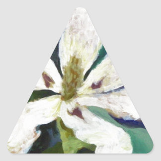 Imagen de la magnolia de Ashe Pegatina Triangular