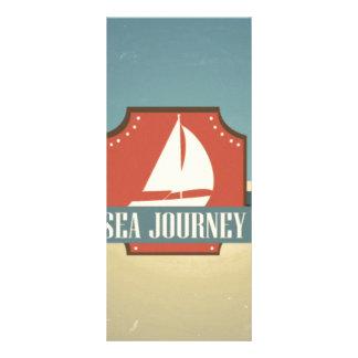 Imagen de la nave del vintage. Mensaje del viaje Tarjetas Publicitarias