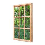 Imagen de la opinión de la ventana del efecto del  impresiones en lona
