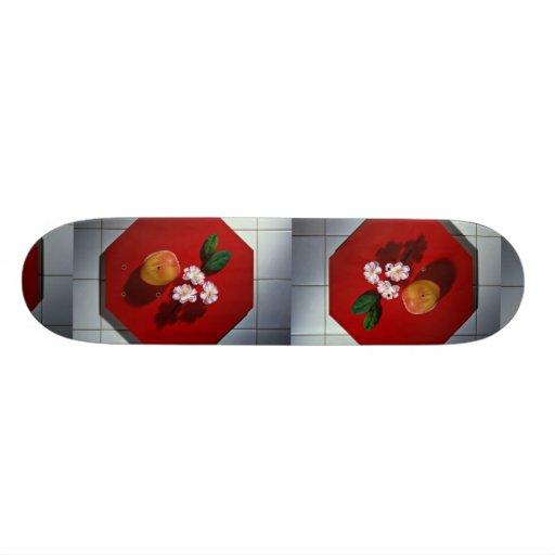Imagen de la placa anaranjada patin personalizado