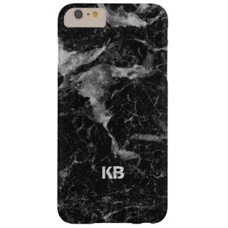 Imagen de la textura de mármol negra y gris funda barely there iPhone 6 plus