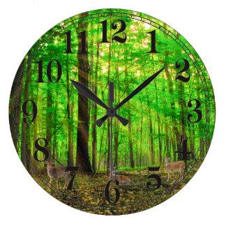Imagen de los ciervos para el reloj de pared