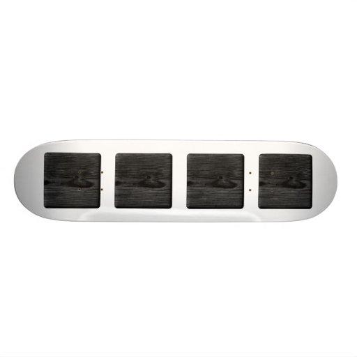 Imagen de madera negra monopatines
