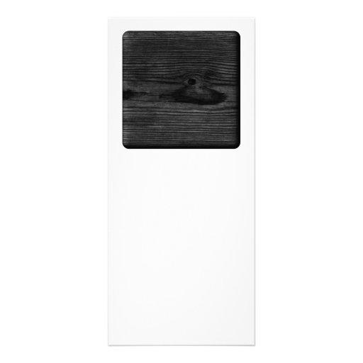 Imagen de madera negra diseño de tarjeta publicitaria