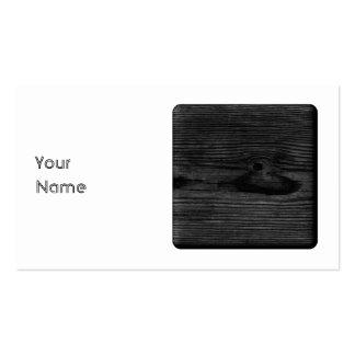 Imagen de madera negra tarjeta personal