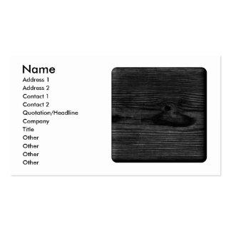 Imagen de madera negra tarjetas de visita
