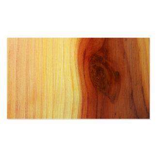 Imagen de madera tarjetas de visita