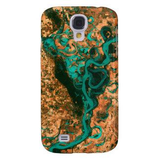 Imagen de serpenteo del satélite de Mississippi Funda Para Galaxy S4