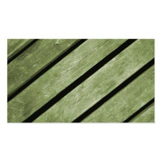 Imagen de tablones verdes de la madera tarjetas de visita