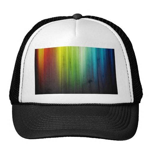 imagen del arco iris gorros bordados