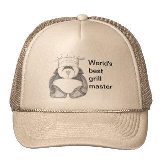Imagen del cocinero del oso de panda gorras de camionero