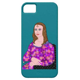 Imagen del dibujo animado de Mona Lisa Funda Para iPhone SE/5/5s