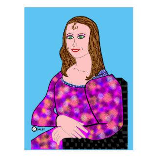 Imagen del dibujo animado de Mona Lisa Postal