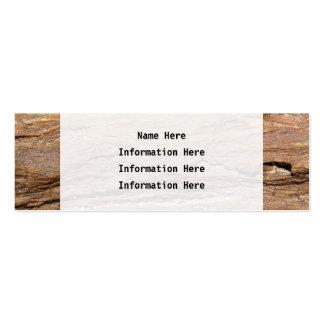 Imagen del fósil de madera plantilla de tarjeta de visita